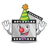 Clownbandfilm ovanför trätecknad filmtabellen royaltyfri illustrationer