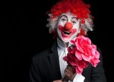 clowndatumförälskelse Royaltyfri Foto