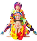 Clowne bilden Spaß Lizenzfreie Stockfotos