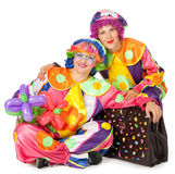Clowne bilden Spaß Stockfotos