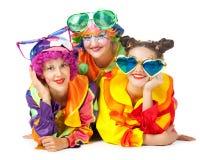 Clowne bilden Spaß Lizenzfreie Stockfotografie