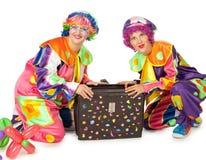 Clowne bilden Spaß Stockbild