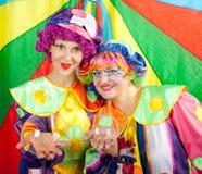 Clowne bilden Spaß Lizenzfreies Stockfoto