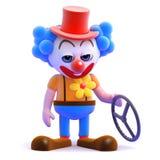 clownen 3d har haft en krasch Fotografering för Bildbyråer
