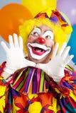 clownen hands jazz Arkivbilder