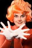 clownen hands s Arkivfoton