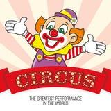 Clownen och ordcirkusen Arkivbild
