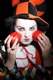 clownen pepprar red fotografering för bildbyråer