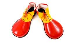 clownen shoes white royaltyfri foto