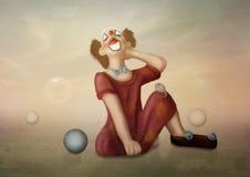 Clowness. Dreams Outdoors,evening, sunset Stock Image