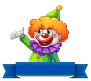 Clownetiket vector illustratie