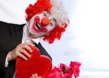 clownförälskelse Royaltyfria Bilder