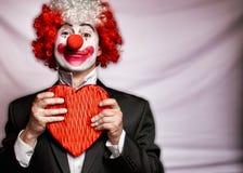 clownförälskelse Royaltyfri Foto