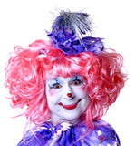 clownfekvinnlig Arkivfoto