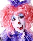 clownfekvinnlig Royaltyfria Foton