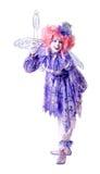 clownfekvinnlig Royaltyfri Bild