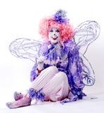 clownfekvinnlig Arkivbild
