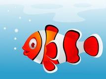 Clownfischkarikatur Lizenzfreies Stockbild