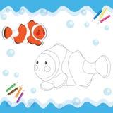 Clownfish шаржа Стоковая Фотография RF