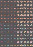 Clownfish colorful sticker set