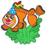 Clownfish dos desenhos animados no anemone Fotografia de Stock Royalty Free