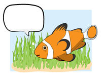Clownfish med text Royaltyfri Bild