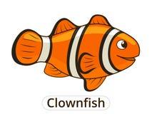 Clownfish sea fish cartoon illustration Royalty Free Stock Image