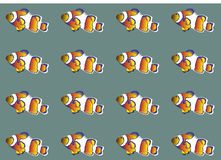 Clownfish Wallpaper Royalty Free Stock Photo