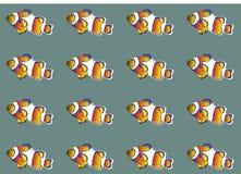 Clownfish Wallpaper Royalty Free Stock Photo