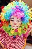 Clownflicka Arkivbilder