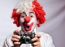 clownfotograf Royaltyfri Fotografi