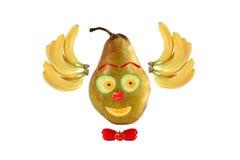 Clownframsida som göras av frukter och grönsaker Royaltyfria Bilder