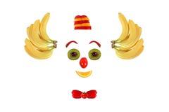 Clownframsida som göras av frukter och grönsaker Royaltyfri Bild