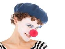Clownfrauenlächeln lizenzfreie stockbilder
