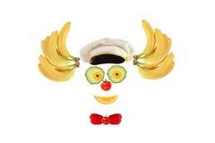 Clowngesicht gemacht von den Obst und Gemüse von lizenzfreie abbildung