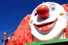 Clowngesicht in Prater, Wien stock abbildung