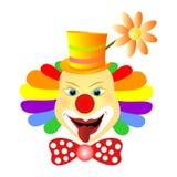 Clowngezicht vector illustratie