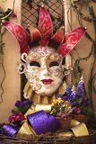 Mask colorful majestic Jester  Royalty Free Stock Photography