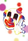 clownjonglör Arkivbild