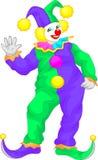 Clownkarikaturwellenartig bewegen Stockfoto