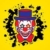 Clownkopf-Lächelngesicht Lizenzfreies Stockfoto