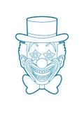 Clownkopf-Lächelngesicht Lizenzfreies Stockbild