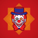 Clownkopf-Lächelngesicht Stockbild