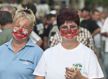 clownkvinnor Fotografering för Bildbyråer
