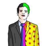 Clownman Arkivfoton