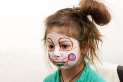 Clownmaquillage stock afbeeldingen