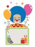 Clownpartykarte Stockbilder