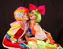 Clowns photos libres de droits