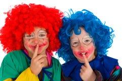Clowns as crianças Imagens de Stock Royalty Free