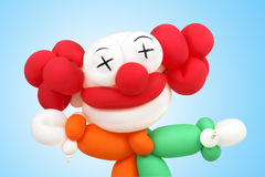Clowns  balloon. With paths outline Royalty Free Stock Image